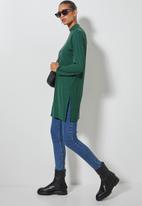 Superbalist - Longline rib tee  - bottle green