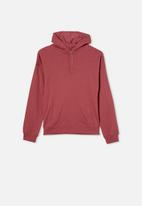 Free by Cotton On - Henley free hoodie - vintage berry