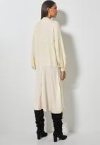 Superbalist - Turtleneck combo fabric dress - cream