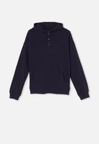 Free by Cotton On - Henley free hoodie - indigo