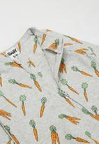 Cotton On - 2 pack long sleeve zip romper - crazy carrots/vintage honey bailey bunny