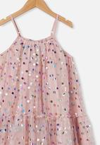 Cotton On - Iggy dress up dress - dusty pink/rainbow spot