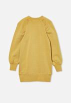 Cotton On - Molly long sleeve dress - honey gold
