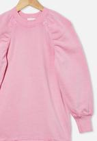 Cotton On - Molly long sleeve dress - pink gerbera