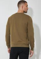 Superbalist - Brewer crew neck sweater - mocca