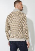 Superbalist - Pattern roll neck knit - neutral & brown