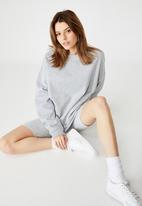 Factorie - Oversized crew neck sweater - grey