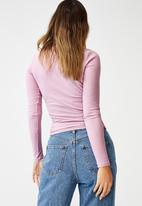 Cotton On - Rosa long sleeve top - soft mauve