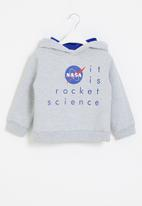Superbalist Kids - Nasa younger boys hooded sweatshirt - grey