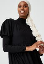 Cotton On - Woven lange babydoll medaxi - black