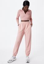Factorie - Ultra crop long sleeve top - pink