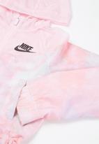 Nike - G nsw wr aop jkt  - pink foam /white