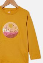 Cotton On - Stevie long sleeve embellished tee - mustard
