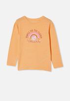 Cotton On - Penelope long sleeve tee - peach