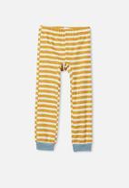 Cotton On - Noah long sleeve pyjama set - blue & yellow