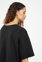 Cotton On - Oversized graphic T-shirt dress - black