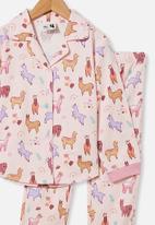 Cotton On - Angie long sleeve pyjama set - pink