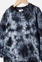 Cotton On - The creed long sleeve moto tee - true black