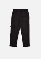 Cotton On - Cargo trackpant - black