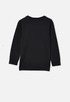 Cotton On - Tom long sleeve raglan tee - black