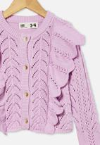 Cotton On - Arabella ruffle cardigan - violet