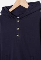 Cotton On - Henley hoodie - navy