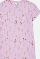 Free by Cotton On - Toni Tshirt sleeve dress - purple