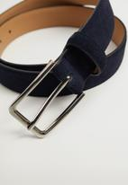 MANGO - Belt suede - navy