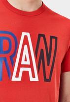 G-Star RAW - Raw r s\s tee - dark candy