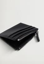MANGO - Card holder zip - black