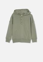 Cotton On - Henley hoodie - green