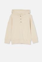 Cotton On - Henley hoodie - beige