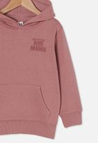 Cotton On - Milo hoodie - dusty berry