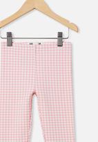 Cotton On - Fleece legging - marshmallow gingham