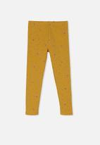 Cotton On - Fleece legging - honey gold