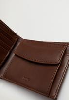 MANGO - Wallet classic  - medium brown