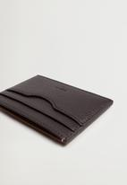 MANGO - Card holder twofaces - brown