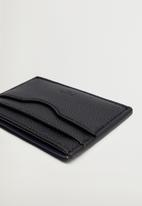 MANGO - Card holder twofaces - blue