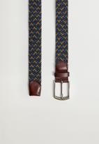 MANGO - Belt colors - blue