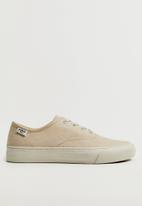 MANGO - Fabric sneaker - light beige