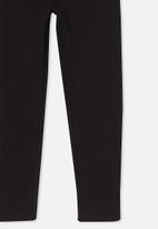 Cotton On - Fleece legging - black