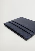 MANGO - Card holder basic - blue