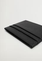 MANGO - Card holder basic - black