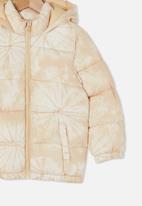 Cotton On - Frankie puffer jacket - beige