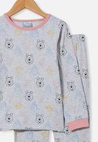 Cotton On - Orlando long sleeve pyjama set licensed - grey
