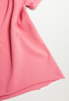 MANGO - Roll tee - pink