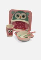 Calasca - Kids 5pcs bamboo dinning set - big owl