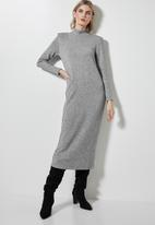 Superbalist - Soft touch shoulder pad dress - grey