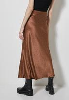 Superbalist - Long midi slip skirt - brown