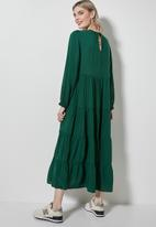 Superbalist - Long sleeve tiered dress - green